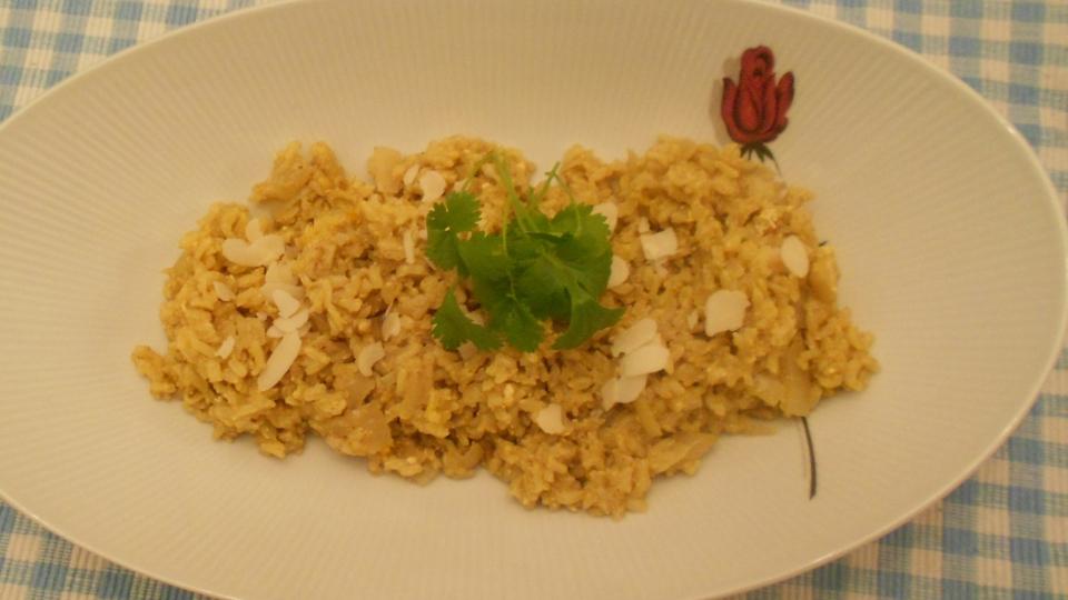 Op Indiase wijze gekookte rijst