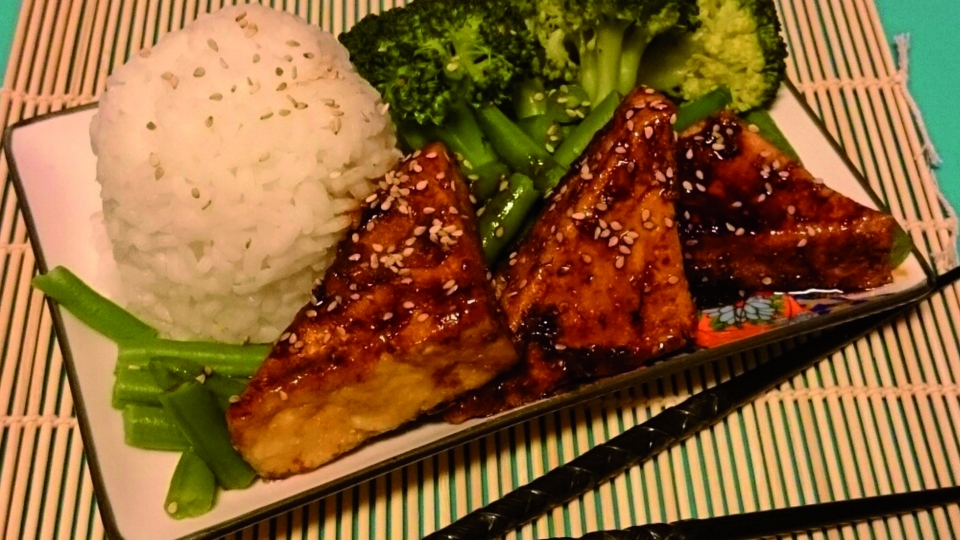 Tofu met teriyaki (sojasaus)